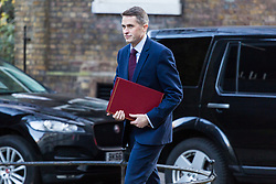 London, December 19 2017. Defence Secretary Gavin Williamson arrives at 10 Downing Street for the last cabinet meeting before the Christmas break. © Paul Davey