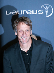 © Licensed to London News Pictures. 06/02/2012. London, UK. Tony Hawk arriving on the red carpet for the Laureus World Sports Awards 2012. Dozens of sports and Hollywood celebrities arrived in the English capital to attend the event held at the Queen Elizabeth II Conference Centre in the same year that London will host the Olympic Games. Photo credit : Ben Cawthra/LNP