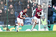 Burnley midfielder Ashley Westwood score a goal and celebrate during the Premier League match between Burnley and Leicester City at Turf Moor, Burnley, England on 19 January 2020.