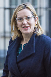 Downing Street, London, November 29th 2016. Home Secretary Amber Rudd leaves 10 Downing Street following the weekly cabinet meeting.