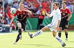 03.06.2011, Osnatel Arena, Osnabrueck, GER, WM 2012 FSP,  Deutschland (GER) vs Italien (ITA), .im Bild Melanie Behringer (GER) vs Elisa Camporese (ITA) during the WM 2011 Friendly Game, Germany vs Italy, at Osnatel Arena, Osnabrück, 2011-06-03, .EXPA Pictures © 2011, PhotoCredit: EXPA/ nph/  Hessland       ****** out of GER / SWE / CRO  / BEL ******