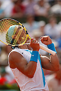Roland Garros. Paris, France. June 10th 2007..Men's Final..Rafael NADAL won the 3rd set against Roger FEDERER.