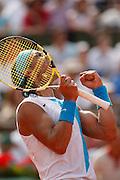 Roland Garros. Paris, France. June 10th 2007..Men's Final..Rafael NADAL won the 3rd set against Roger FEDERER.