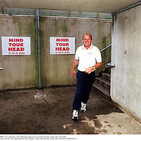 2 August 1999; Ger Loughnane, Clare Manager makes his way to the dressing rooms, after Clare had defeated Galway in the, All Ireland Quarter Final Replay, Croke Park. Picture credit; Ray McManus/SPORTSFILE