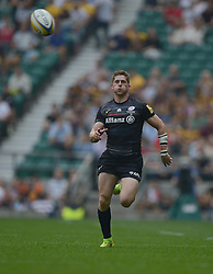 Saracens Winger Chris Ashton chases down the ball.- Photo mandatory by-line: Alex James/JMP - 07966 386802 - 06/09/2014 - SPORT - RUGBY UNION - London, England - Twickenham Stadium - Saracens v Wasps - Aviva Premiership London Double Header.