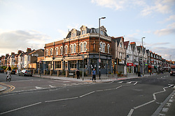 © Licensed to London News Pictures. 11/07/2020. London, UK. General view view of Westbury Avenue in Wood Green, north London. A 23 year old man was stabbed near THE WESBURY pub on Westbury Avenue at 10.40pm on Friday 10 July. The victim was to hospital where his condition has been assessed as critical. Photo credit: Dinendra Haria/LNP