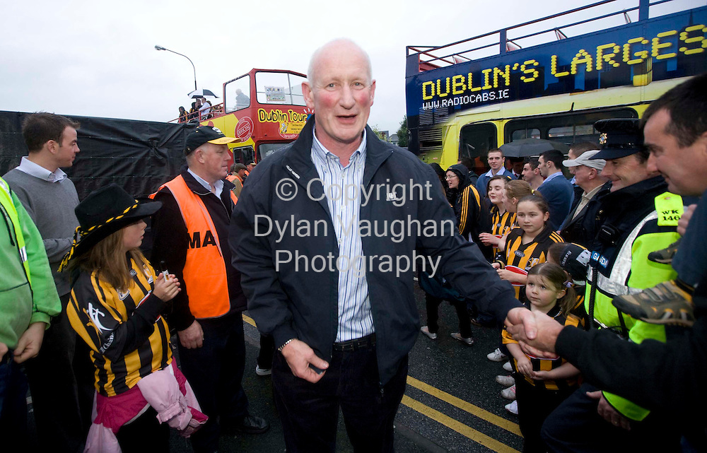 8/9/2008.Brian Cody pictured at Kilkennys homecoming in Kilkenny last night..Picture Dylan Vaughan.