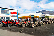 all-terrain vehicle in Longyearbyen, Spitsbergen, Svalbard Archipelago, Norway