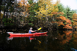 Kayaking the Nashua River in Groton, Massachusetts. MR