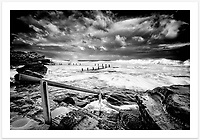 A dramatic afternoon both in the sky and the ocean, at Maroubra's Mahon Pool [Maroubra, NSW, Australia].<br /> <br /> To purchase please email orders@girtbyseaphotography.com quoting the image number 203721BW, and your preferred print size. You will receive a quick reply recommending print media options to best suit your chosen image, plus an obligation-free quotation. Current standard size prices are published on the Pricing page.