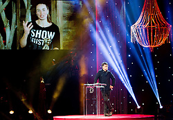 Tina Maze, best athlete and Matevz Lenarcic at Slovenian Sports personality of the year 2013 annual awards presented on the base of Slovenian sports reporters, on December 19, 2013 in Cankarjev dom, Ljubljana, Slovenia.  Photo by Vid Ponikvar / Sportida