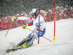 27.01.2015, Planai, Schladming, AUT, FIS Skiweltcup Alpin, Schladming, 1. Lauf, im Bild Daniel Yule (SUI) // Daniel Yule (SUI) during the first run of the men's slalom of Schladming FIS Ski Alpine World Cup at the Planai Course in Schladming, Austria on 2015/01/27, EXPA Pictures © 2015, PhotoCredit: EXPA/ Erwin Scheriau