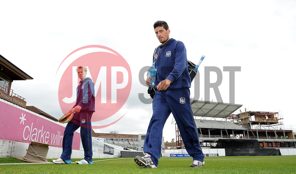Gloucestershire's Benny Howell - Photo mandatory by-line: Harry Trump/JMP - Mobile: 07966 386802 - 30/03/15 - SPORT - CRICKET - Pre Season Fixture - T20 - Somerset v Gloucestershire - The County Ground, Somerset, England.