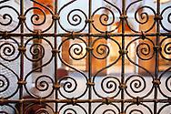 Decorative cast iron window grid in the museum Dar Si Said.