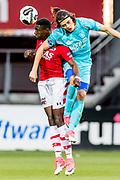 ALKMAAR - 22-04-2017, AZ - FC Twente, AFAS Stadion, AZ speler Derrick Luckassen, FC Twente speler Enes Unal