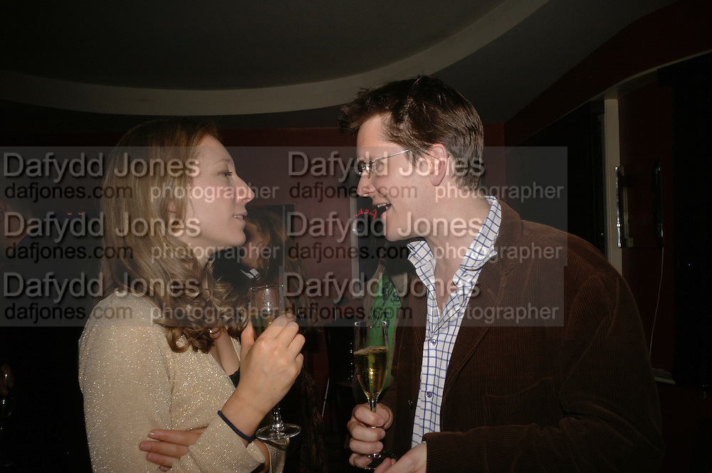 Nina Raine and Rob Roscoe, First night party after the opening of Rabbit by Nina Raine at the Old Red Lion Theatre, Islington. Groucho Club. 18 June 2006. ONE TIME USE ONLY - DO NOT ARCHIVE  © Copyright Photograph by Dafydd Jones 66 Stockwell Park Rd. London SW9 0DA Tel 020 7733 0108 www.dafjones.com