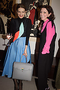 ROKSANDA ILINCIC; STEFANIA PRAMMA;, Stefania Pramma launched her handbag brand PRAMMA  at the Kensington residence of her twin sister, art collector Valeria Napoleone.. London.  29 April 2015
