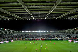 SWANSEA, WALES - Friday, October 7, 2011: A general view as Wales kick-off for the second half during the UEFA Euro 2012 Qualifying Group G match against Switzerland at the Liberty Stadium. (Pic by Chris Brunskill/Propaganda)SWANSEA, WALES - Friday, October 7, 2011: A general view as Wales kick-off for the second half during the UEFA Euro 2012 Qualifying Group G match against Switzerland at the Liberty Stadium. (Pic by Chris Brunskill/Propaganda)