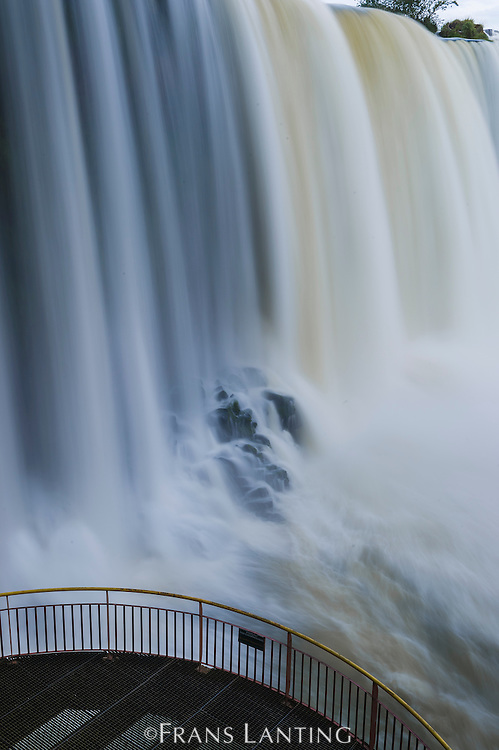 Iguacu Falls with viewing platform, Iguacu National Park, Brazil