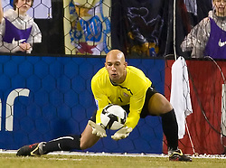 United States goalkeeper Tim Howard (1) makes a save against Mexico.  The United States men's soccer team defeated the Mexican national team 2-0 in CONCACAF final group qualifying for the 2010 World Cup at Columbus Crew Stadium in Columbus, Ohio on February 11, 2009.