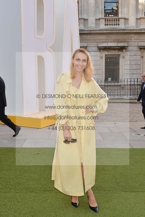 BECKY TONG at the annual Royal Academy of Art Summer Party held at Burlington House, Piccadilly, London on 4th June 2014.