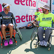 August 24, 2016, New Haven, Connecticut: <br /> Raquel Kops-Jones attends a wheelchair tennis clinic during Day 6 of the 2016 Connecticut Open at the Yale University Tennis Center on Wednesday, August  24, 2016 in New Haven, Connecticut. <br /> (Photo by Billie Weiss/Connecticut Open)
