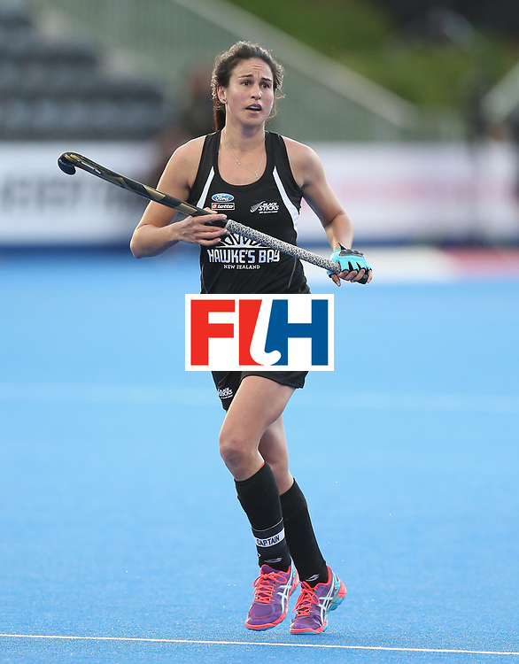 LONDON, ENGLAND - JUNE 21: Kayla Whitelock of New Zealand during the FIH Women's Hockey Champions Trophy match between New Zealand and Great Britain at Queen Elizabeth Olympic Park on June 21, 2016 in London, England.  (Photo by Alex Morton/Getty Images)
