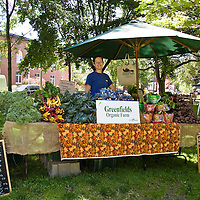 Monika, market manager of Greenfields Organic Farm at the Trinity-Bellwoods farmers market in Toronto.