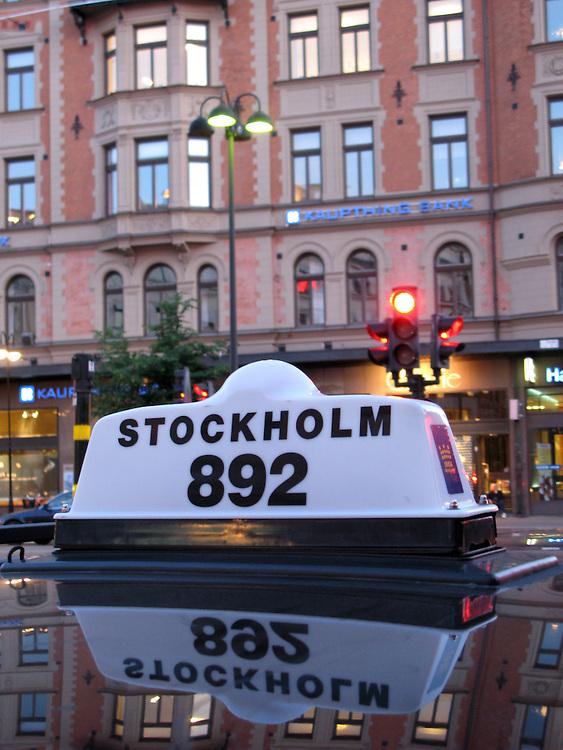 Taxi in Stockholm Sweden.