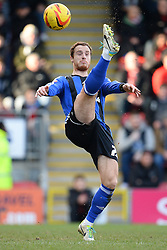 Swindon's Ryan Harley  - Photo mandatory by-line: Mitchell Gunn/JMP - Tel: Mobile: 07966 386802 22/02/2014 - SPORT - FOOTBALL - Brisbane Road - Leyton - Leyton Orient V Swindon Town - League One