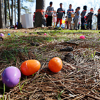 Thomas Wells | BUY at PHOTOS.DJOURNAL.COM<br /> Thousands of eggs wait to picked up in less and than two minutes at Saturday's Easter Egg hunt at ballard park in Tupelo.