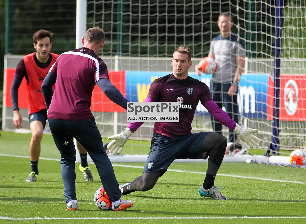 Jack Butland During England Training on Monday the 7th September 2015.