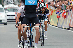 07.07.2011, AUT, 63. OESTERREICH RUNDFAHRT, 5. ETAPPE, ST. JOHANN-SCHLADMING, im Bild Stefan Denifl, (AUT, Leopard Trek) wird Dritter hinter Ian Stannard, (GBR, Sky Procycling) und Gatis Smukulis, (LAT, HTC Highroad) // during the 63rd Tour of Austria, Stage 5, 2011/07/07, EXPA Pictures © 2011, PhotoCredit: EXPA/ S. Zangrando