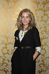 DONNA AIR in the Moet & Chandon Room at British Fashion Week at the Natural History Museum on 15th February 2007.<br />