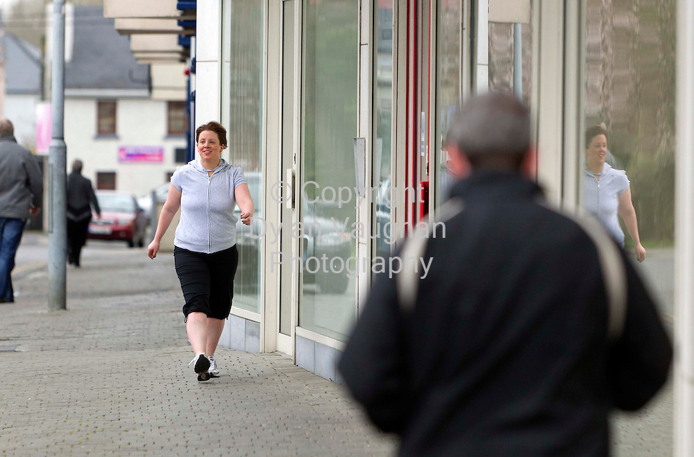 6/3/2012 .Eimear Ni Bhranaoin pictured walking in  Kilkenny..Picture Dylan Vaughan.