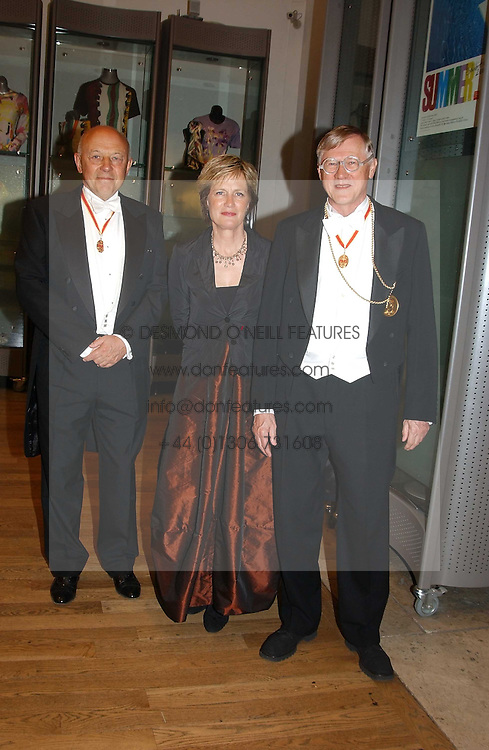 Left to right, SIR JOHN TUSA and SIR NICHOLAS &amp; LADY GRIMSHAW he is President of the RA at the Royal Academy dinner before the official opening of the Summer Exhibition held at the Royal Academy of Art, Burlington House, Piccadilly, London W1 on 1st June 2005.<br />