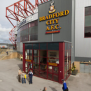 Valley Parade Bradford, home of Bradford City Football Club, built in 1886.