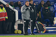 Brendan Rodgers during the Premier League match between Leicester City and Watford at the King Power Stadium, Leicester, England on 4 December 2019.