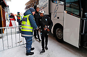 OSTERSUND, SWEDEN - MARCH 17: Fouad Bachirou of Malmo FF arrives prior to the  the Swedish Cup Semifinal between Ostersunds FK and Malmo FF at Jamtkraft Arena on March 17, 2018 in Ostersund, Sweden. Photo: Nils Petter Nilsson/Ombrello ***BETALBILD***