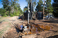 Oil prodcuing site  in Northern  Louisiana in the Haynsville Shale region.
