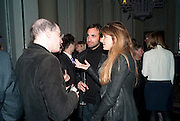 ALAIN DE BOTTON; TIM SAMUELS; JEMIMA KHAN, Henry Porter hosts a launch for Songs of Blood and Sword by Fatima Bhutto. The Artesian at the Langham London. Portland Place. 15 April 2010. *** Local Caption *** -DO NOT ARCHIVE-© Copyright Photograph by Dafydd Jones. 248 Clapham Rd. London SW9 0PZ. Tel 0207 820 0771. www.dafjones.com.<br /> ALAIN DE BOTTON; TIM SAMUELS; JEMIMA KHAN, Henry Porter hosts a launch for Songs of Blood and Sword by Fatima Bhutto. The Artesian at the Langham London. Portland Place. 15 April 2010.