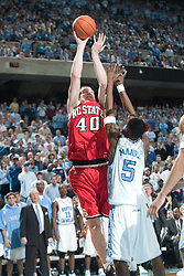 2005 February 03:    Andrew Brackman during a 95-71 victory over North Carolina State at the Dean Smith Center on the campus of the University of North Carolina in Chapel Hill, NC.