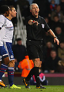 Picture by David Horn/Focus Images Ltd +44 7545 970036<br /> 23/11/2013<br /> Mr Chris Foy , Referee awards a penalty to Chelsea during the Barclays Premier League match at the Boleyn Ground, London.