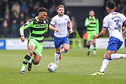 Forest Green Rovers Tahvon Campbell(25) on the ball during the EFL Sky Bet League 2 match between Forest Green Rovers and Mansfield Town at the New Lawn, Forest Green, United Kingdom on 24 March 2018. Picture by Shane Healey.