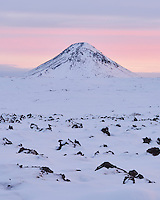 Mount Keilir at sunset. Reykjanes Peninsula, Iceland.