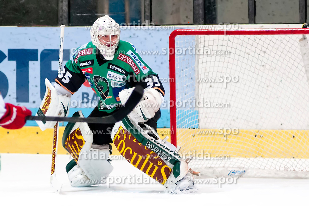 23.11.2012, Hostan Arena, Znojmo, CZE, EBEL, HC Orli Znojmo vs HDD Telemach Olimpija Ljubljana, 24. Runde, im Bild Brian Jerry Kuhn (Ljubljana #34) // during the Erste Bank Icehockey League 24nd round match betweeen HC Orli Znojmo and HDD Telemach Olimpija Ljubljana at the Hostan Arena, Znojmo, Czech Republic on 2012/11/23. EXPA Pictures © 2012, PhotoCredit: EXPA/ Rostislav Pfeffer