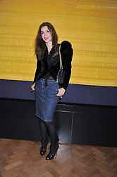 LARA BOHINC at a private view of the V&A's exhibition Golden Spider Silk held at the Victoria & Albert museum, London on 24t January 2012.