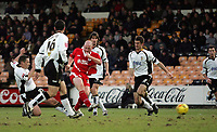 Photo: Paul Thomas.<br /> Port Vale v Bristol City. Coca Cola League 1. 17/12/2005.<br /> <br /> Bristol's Steve Brooker scores.