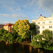 Bank of the River Vltava in central Prague