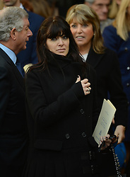 Claudia Winkleman leaves  Westminster Abbey after the service to celebrate the life and work of Sir David Frost, Westminster Abbey, London, United Kingdom. Thursday, 13th March 2014. Picture by Andrew Parsons / i-Images